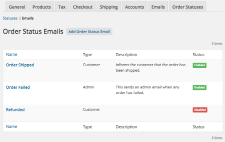 WooCommerce Order Status Manager: custom emails