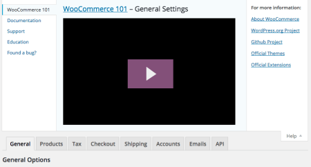 WooCommerce 2.4 Review: help settings