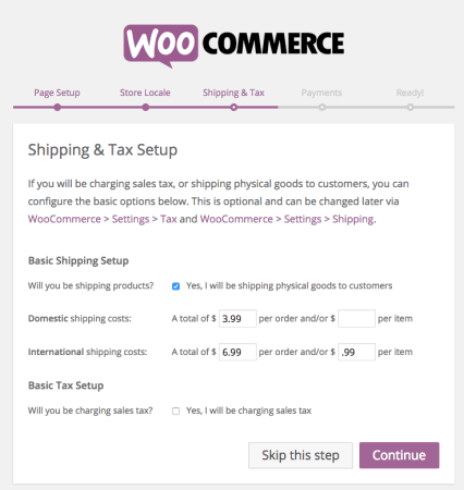 WooCommerce 2.4 Review: wizard step 4