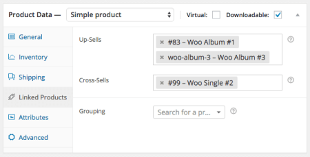 WooCommerce set cross-sells and upsells