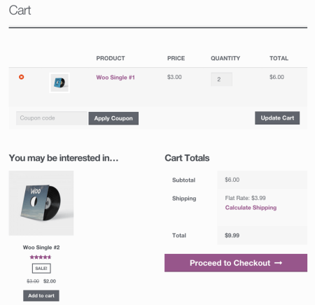 WooCommerce cross-sells
