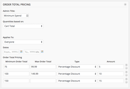 WooCommerce dynamic pricing tiered discount