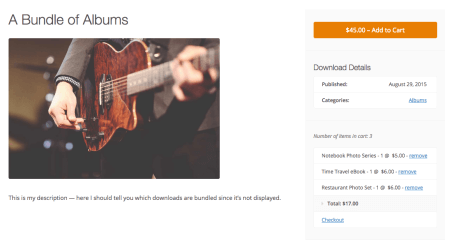 Easy Digital Downloads Bundle Product