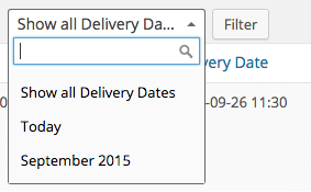 WooCommerce Order Delivery Date filter orders
