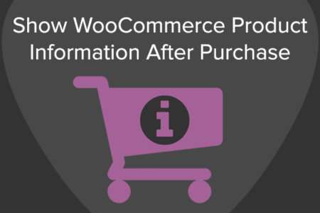 Share WooCommerce Product Information after purchase