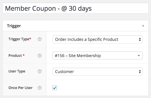 WooCommerce Member Coupons AutomateWoo: Workflow Trigger