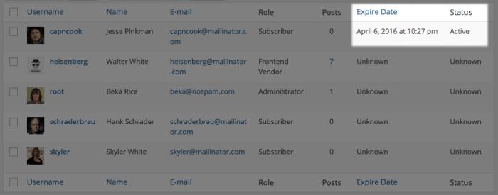 EDD Members Review: Users list