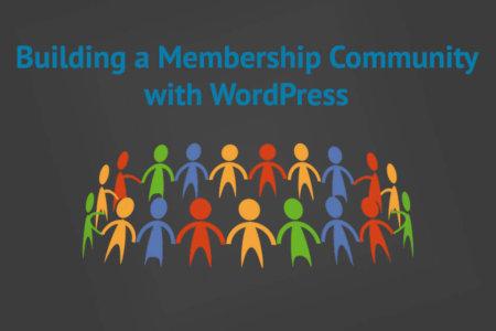 Membership community with WordPress