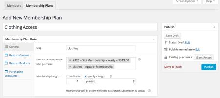 WooCommerce Purchasing Club: Create new membership