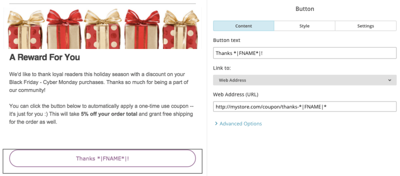 WooCommerce URL Coupons - personalized coupon email
