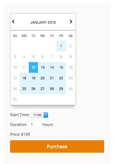 Easy Digital Downloads Bookings time booking