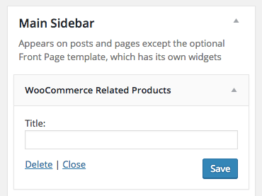WooCommerce Related Products widget