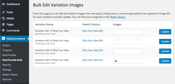 WooThumbs Review: bulk variation images