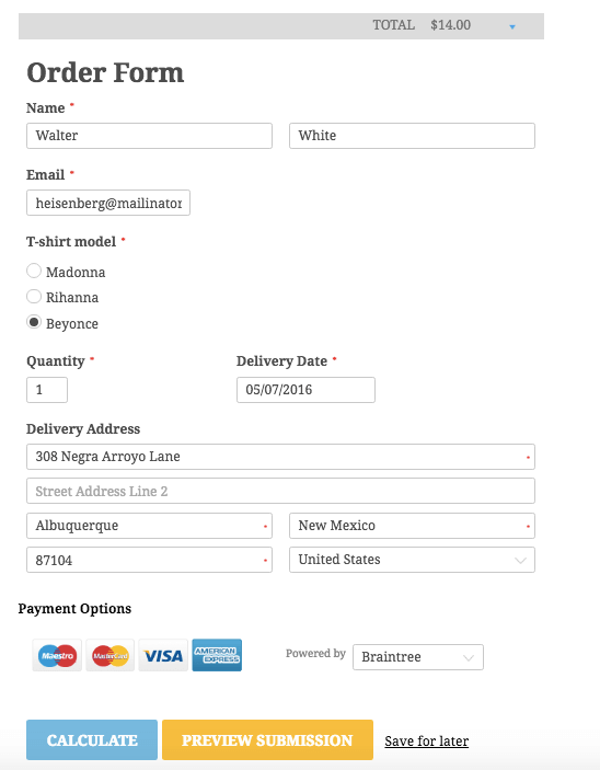 Creating Purchasing Forms: CaptainForm Review – Sell with WP