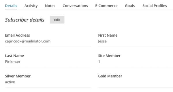 MemberPress MailChimp subscriber