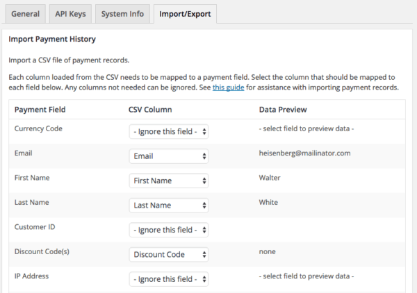 Easy Digital Downloads 2.6 Review: Import payments
