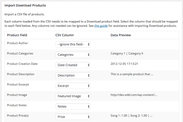 Easy Digital Downloads 2.6 Review: product import