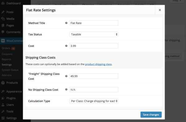 WooCommerce 2.6 Review: Configure shipping method
