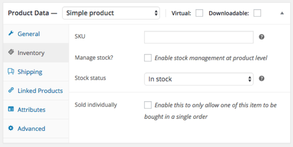 WooCommerce 2.6 Review: WooCommerce 2.6 product inventory