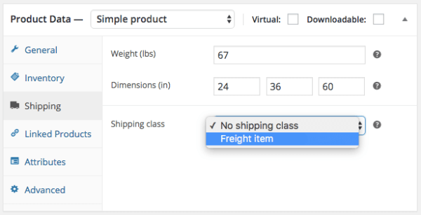 WooCommerce Shipping Zones: apply class