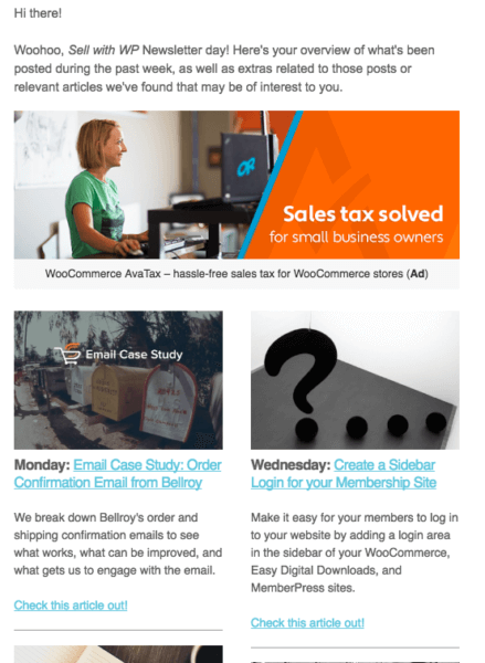 email marketing tips snippets