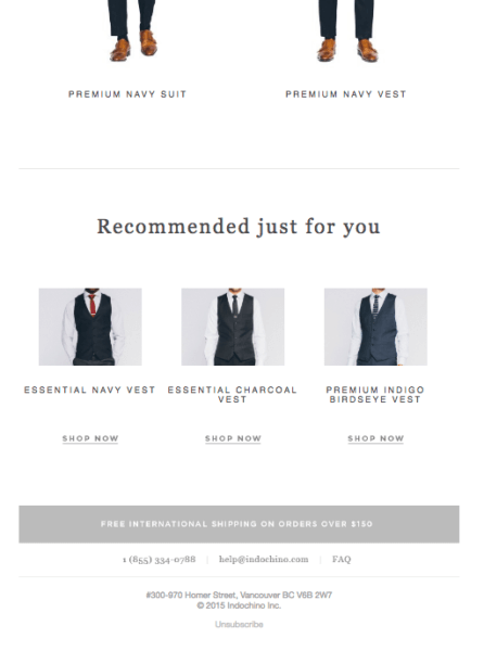indochino cart recovery email bottom