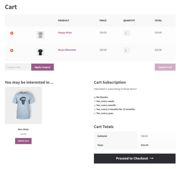 subscribe all the things simple cart