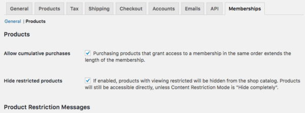 WooCommerce Memberships Hide Restricted Products
