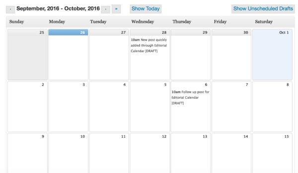 store blog editorial calendar