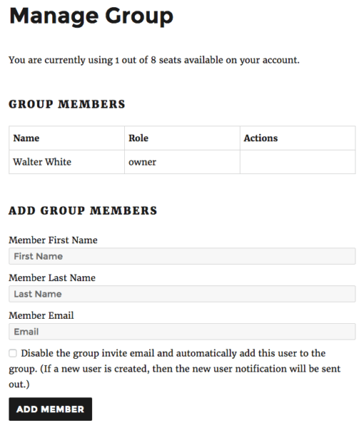 Restrict Content Pro Group Memberships: managing groups