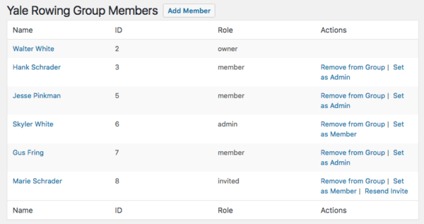 Restrict Content Pro Group Memberships: view group members as admin