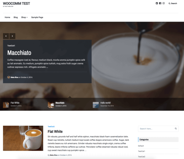 Lenscap Review: Blog Homepage