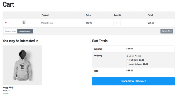 Lenscap Review: WooCommerce cart page