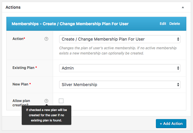 AutomateWoo Memberships Action