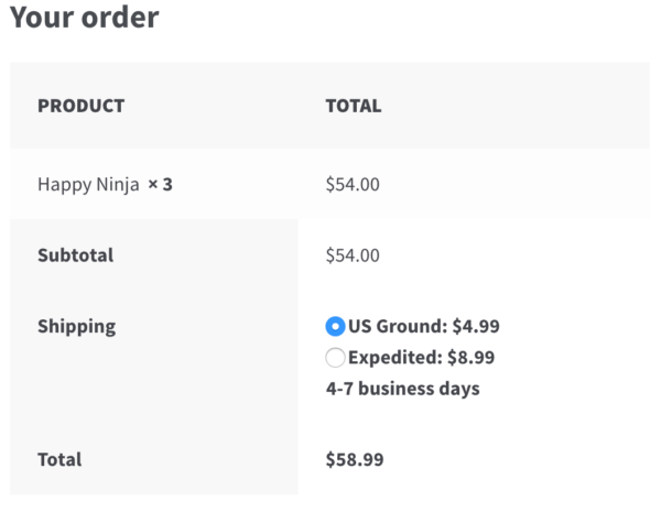 Advanced Flat Rate Shipping Review: order under $60