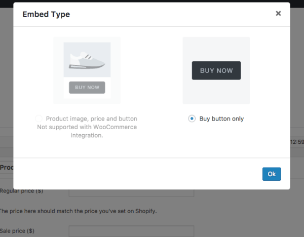 sell shopify products on wordpress embed type