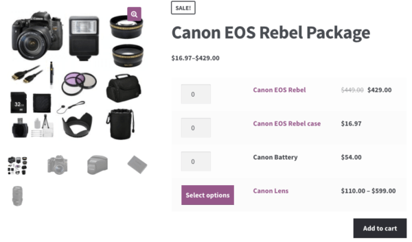 WooCommerce Grouped Products display